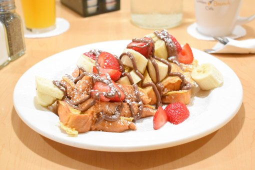 nutella strawberry banana french toast